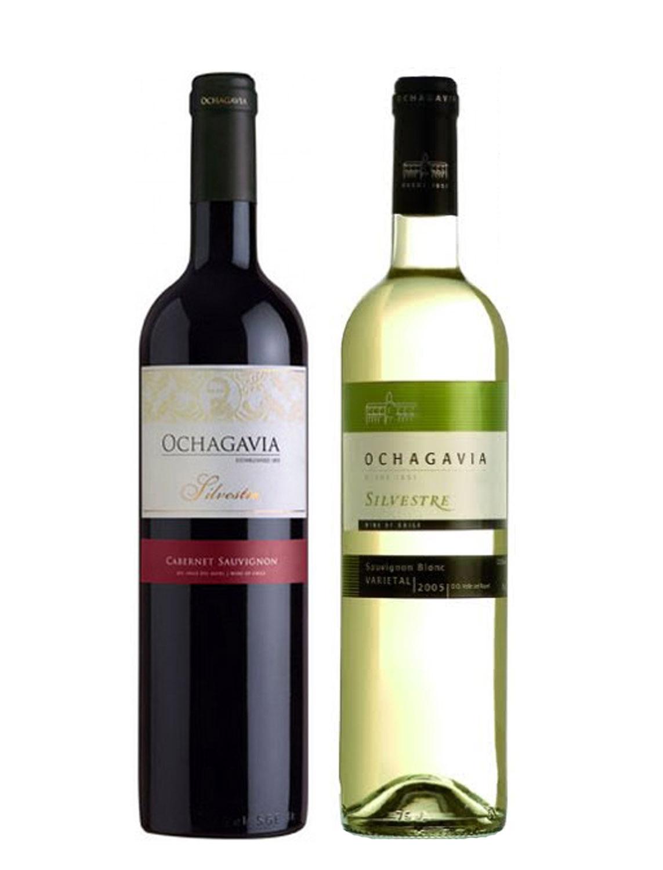 Kết quả hình ảnh cho vang chile ochagavia silvestre sauvignon blanc